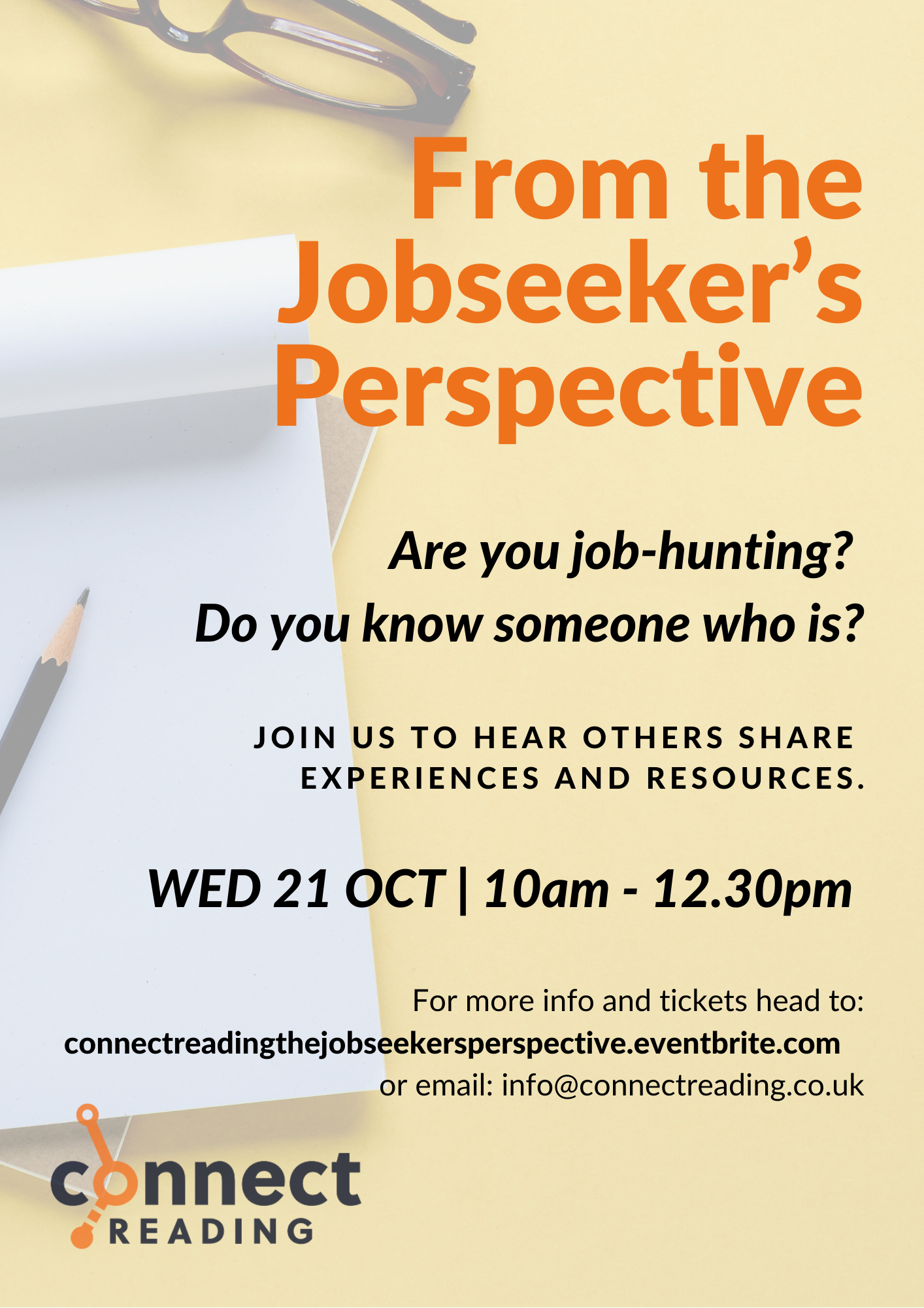 Upcoming Event | From the Jobseeker's Perspective